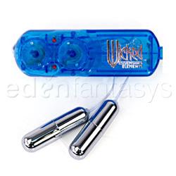 Super slim double bullet blue - bullet vibrator