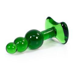 Glass plug  - Ziggy plug - view #3