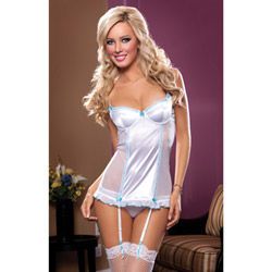 White Sophia slip and thong - chemise