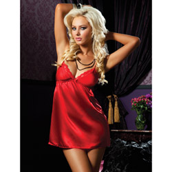 Red flawless chemise