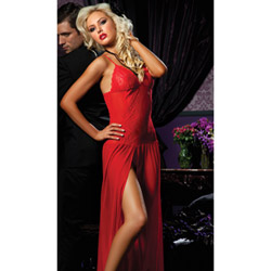 Red moonlight magic gown