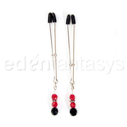 Beaded nipple clamps - sex toy