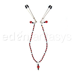 Single strand beaded clamps - nipple clamps