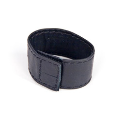 Leather cock ring with velcro closure