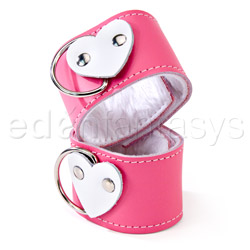 Wrist cuffs - Pink heart wrist restraints - view #4