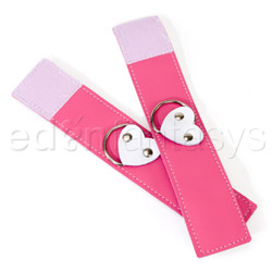 Wrist cuffs - Pink heart wrist restraints - view #5