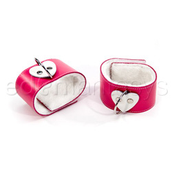 Pink heart ankle restraints - cuffs
