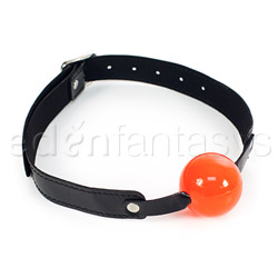 Sex and Mischief solid red ball gag - headgear