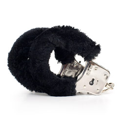 Police style handcuffs - Sex and Mischief fluffy handcuffs - view #2