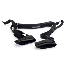 Sex sling black neoprene - sex toy for couples