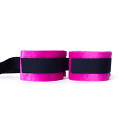 Velcro handcuffs - Kinky pinky cuffs with tethers - view #2