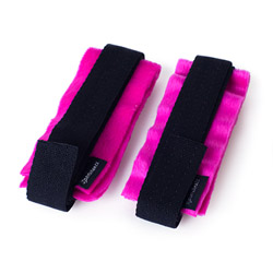 Velcro handcuffs - Kinky pinky cuffs with tethers - view #3