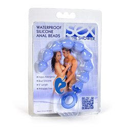 Anal beads with loop handle - Sex in the Shower waterproof anal beads - view #4