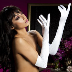 Satin opera gloves - sexy lingerie