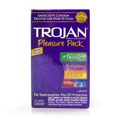 Male condom - Trojan pleasure pack - view #1