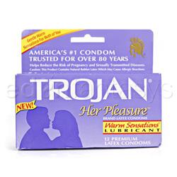 Male condom - Trojan her pleasure warming - view #3