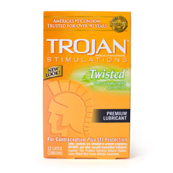 Trojan stimulations twisted - condoms