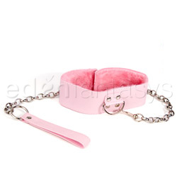 Collar  - Pink plush collar and leash - view #2