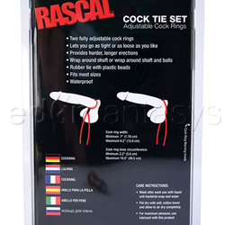 Ring set - Rascal cock tie set - view #2