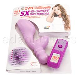 G-spot rabbit vibrator - CyberSilicone 5x G-spot hot handle - view #5