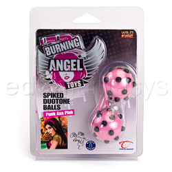 Vaginal balls  - Joanna Angel's spiked duotone balls - view #5
