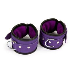 Handcuffs with buckle - Purple hand cuffs - view #2