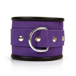 Handcuffs with buckle - Purple hand cuffs - view #3