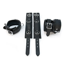 BDSM kit - Leather wrist and ankle cuffs kit - view #1