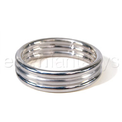 Cock ring - Silver ribbed cock ring - view #3