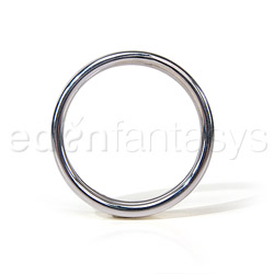 Cock ring - Silver ribbed cock ring - view #4