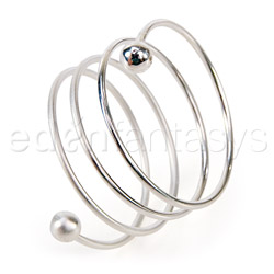 Cock ring - Silver spiral cock ring - view #1
