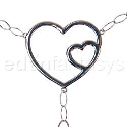 Body jewelry - Double hearts belly chain - view #2
