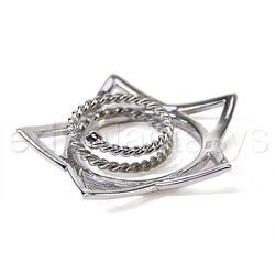 Nipple jewelry - Silver star nipple shields - view #3