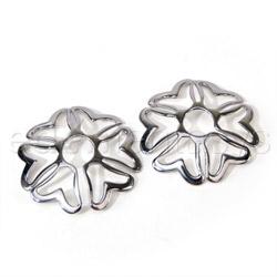 Nipple jewelry - Silver heart nipple shields - view #1