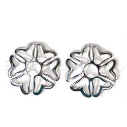 Nipple jewelry - Silver heart nipple shields - view #2