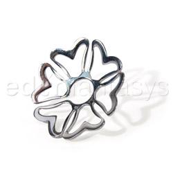 Nipple jewelry - Silver heart nipple shields - view #3