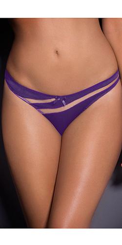 Satin and mesh bikini