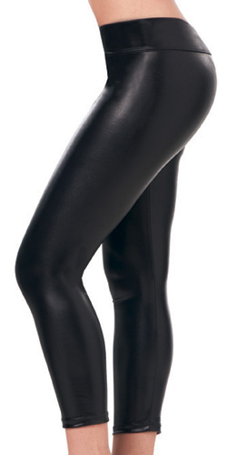 Black metallic leggings - Leggings