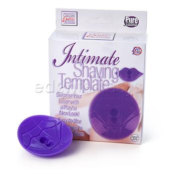 Intimate shaving template purple