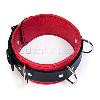 Sinfully soft leather collar