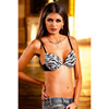 Zebra four-way deep-v push up bra