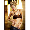 Brown four-way convertible bra