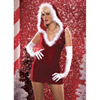 Santa baby velvet dress
