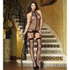 Black garter dress