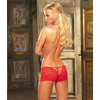 Stretch lace open crotch short