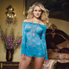 Blue lace courtesan long sleeve chemise