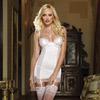 White gartered slip and thong
