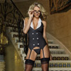 Working Late garter dress, thong and glasses