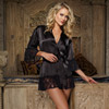 Flirting with desire robe and thong