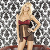 Bedroom bordello ruffle babydoll and G-string